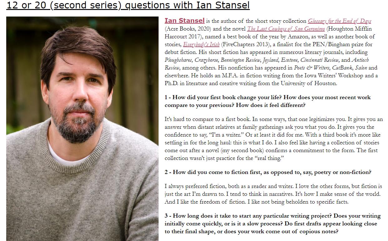Screenshot of interview